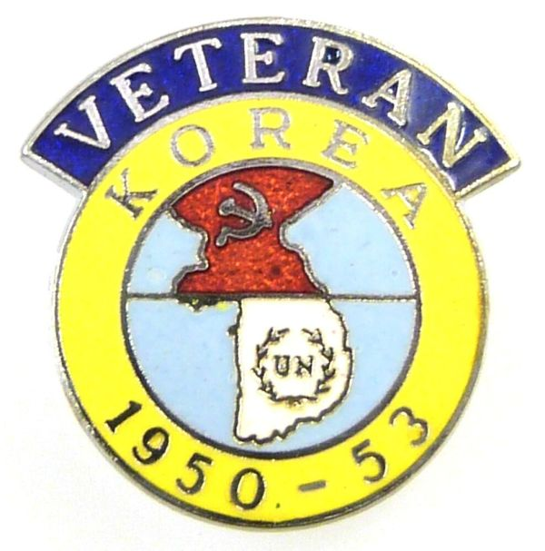 Korea / Korean War Veterans 1950 - 1953 Lapel Pin Badge | eBay