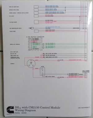 Cummins Laminated ISLe with CM2150 Control Module Wiring