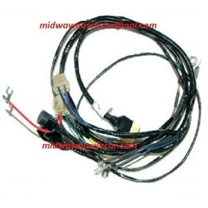 front headlight wiring harness w stock generator 56 Chevy