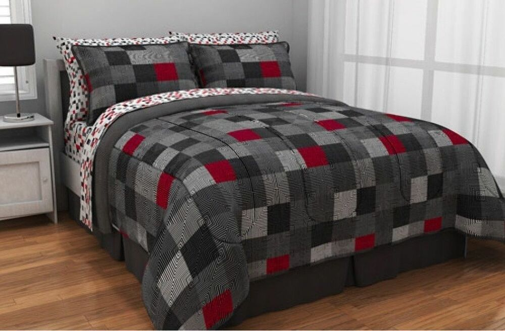 Minecraft Style Bedding Queen Size Comforter Sheet Set