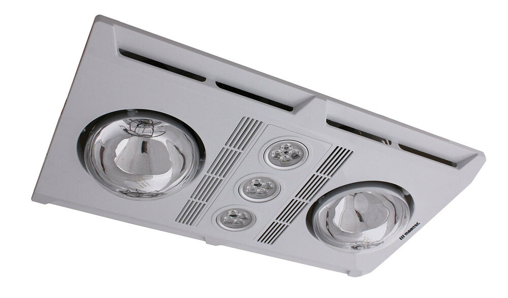 3 In 1 Bathroom Heater And Exhaust Fan Profile Plus LED