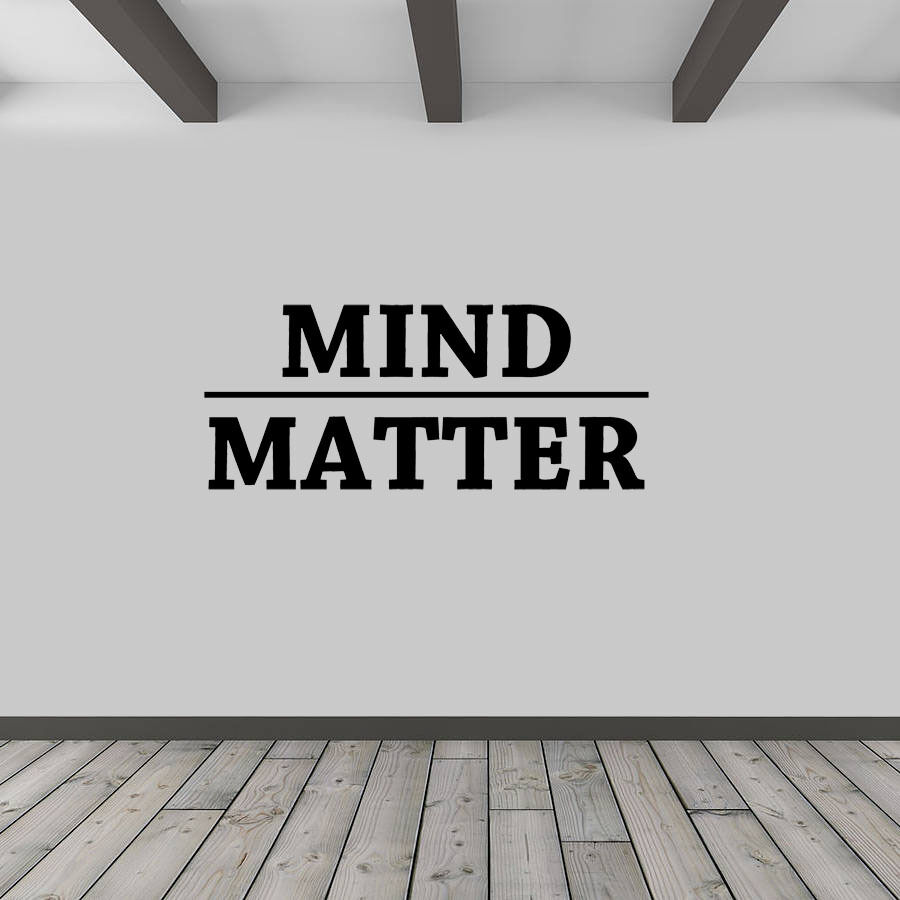 Mind Over Matter Vinyl Wall Decal Inspirational Quote EBay
