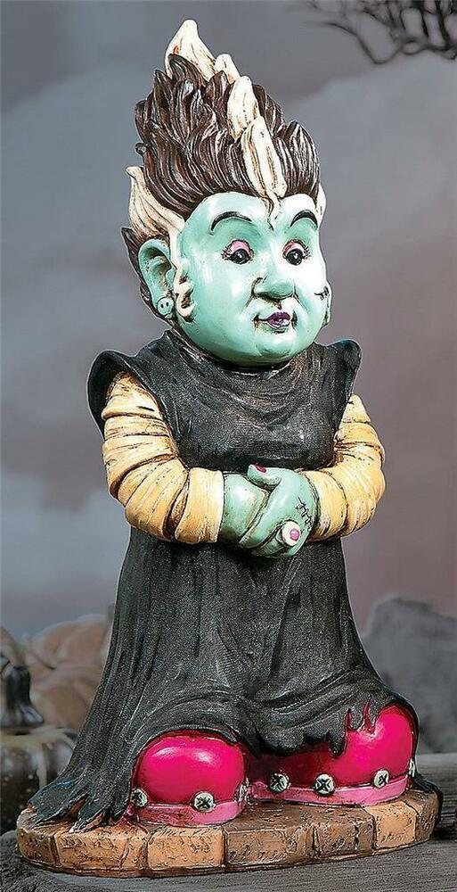 Bride of Frankenstein Monster Gnome Statue Outdoor