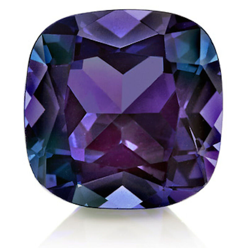 Lab Created Pulled Alexandrite True Color Change Cushion