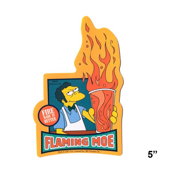 STICKER - The Simpsons Flaming Moe Fire Made It Better ...