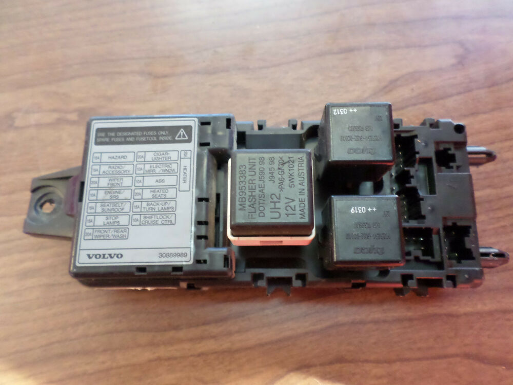 2001-2004 Volvo S40 OEM Relay And Fuse Block