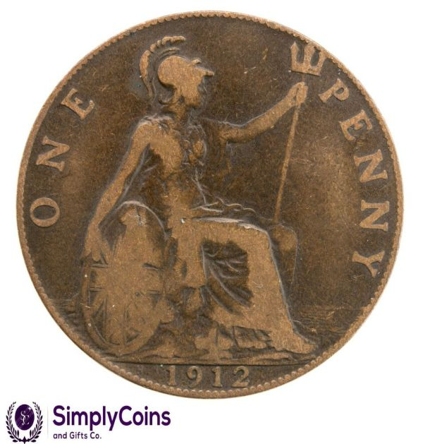 1912 PENNY RMS TITANIC COIN Old British Bronze Vintage ...