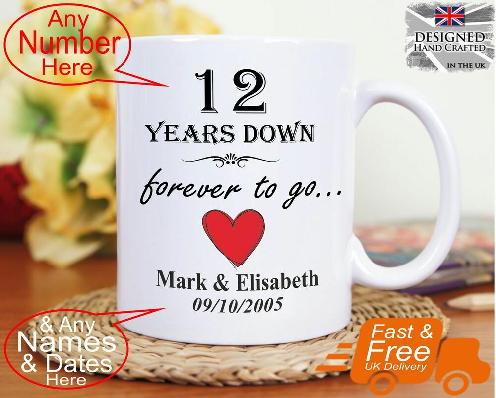 12th Wedding Anniversary Gift 12 Years Marriage, Any Dates