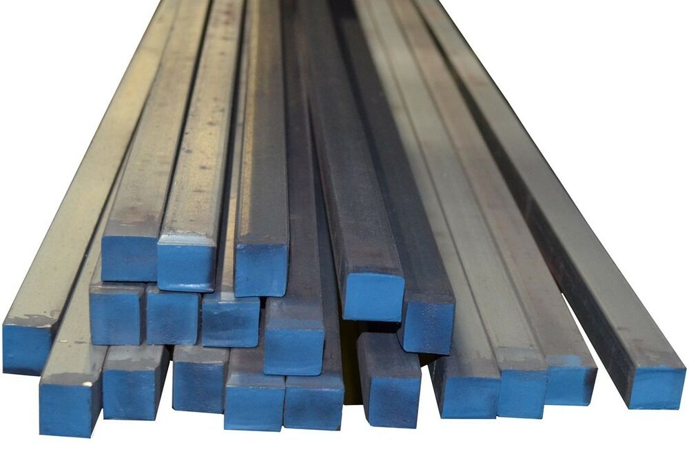 "3/8"" Hot Rolled Mild Steel SQUARE Rod Bar. A36 Prime New"