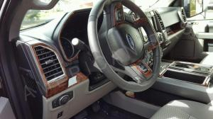 2017 2018 INTERIOR WOOD DASH TRIM KIT SET FOR FORD F250 F
