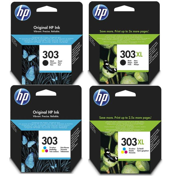 Genuine HP 303 / 303XL Black and Colour Ink Cartridges for ...