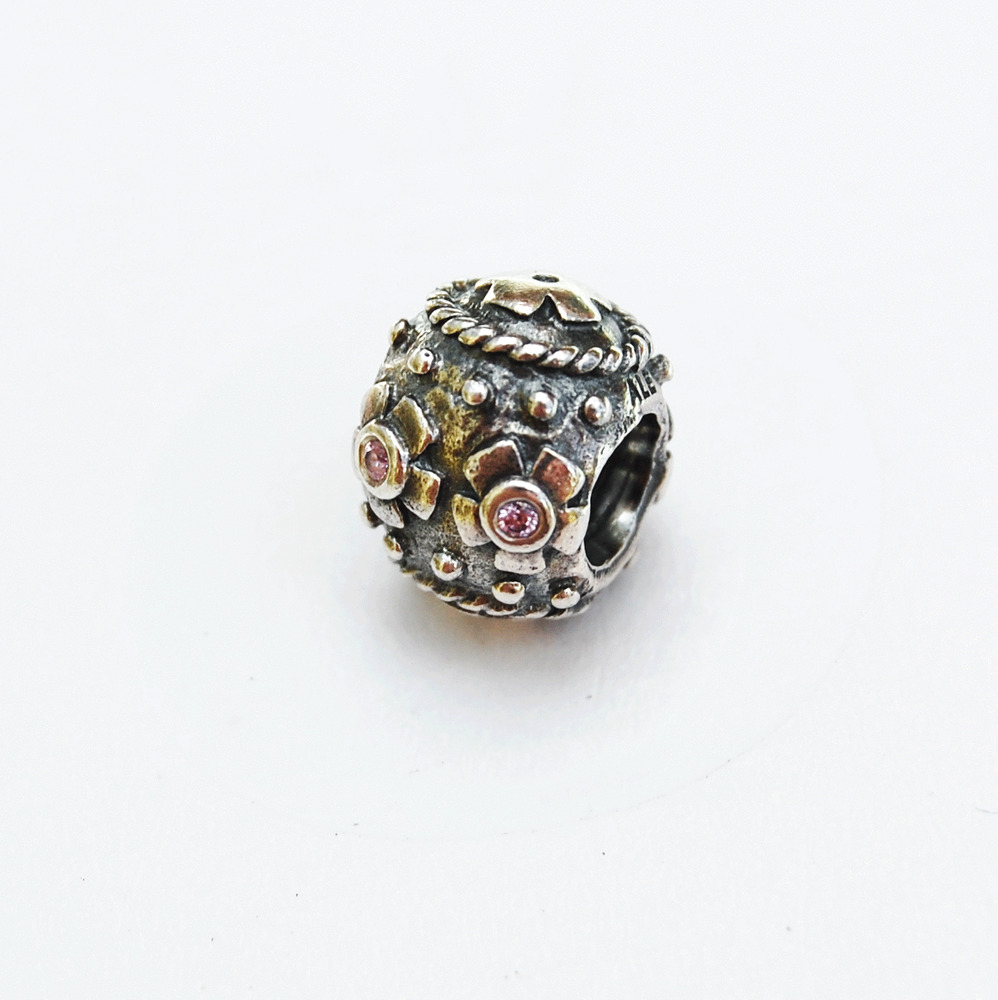 Genuine Pandora Charm Bead Decorative Easter Egg With Pink Crystals 790390PCZ EBay