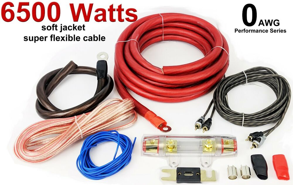 6000 Watts 0 AWG GAUGE Car Amp Amplifier Cable Sub