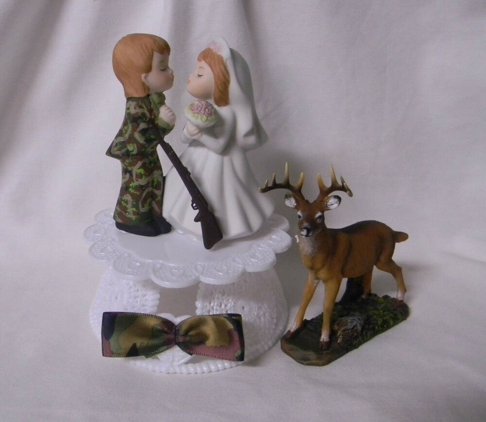 Wedding Reception Party Deer Hunter Camo Camouflage Groom Hunting Cake Topper Ebay