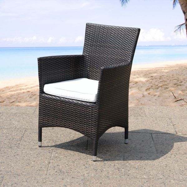 wicker patio furniture cushions DINING CHAIR SEAT CUSHION PATIO WICKER ITALY RATTAN GARDEN