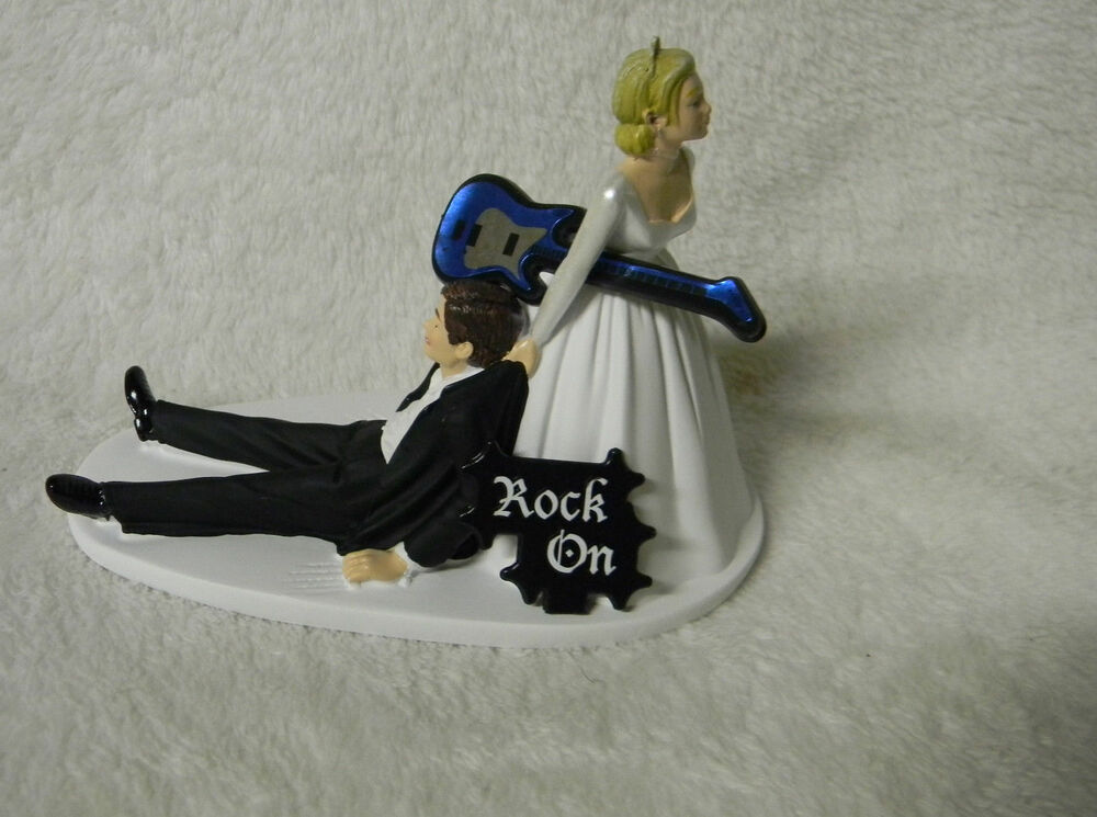 Wedding Party Reception Bride Groom Cake Topper Band Music