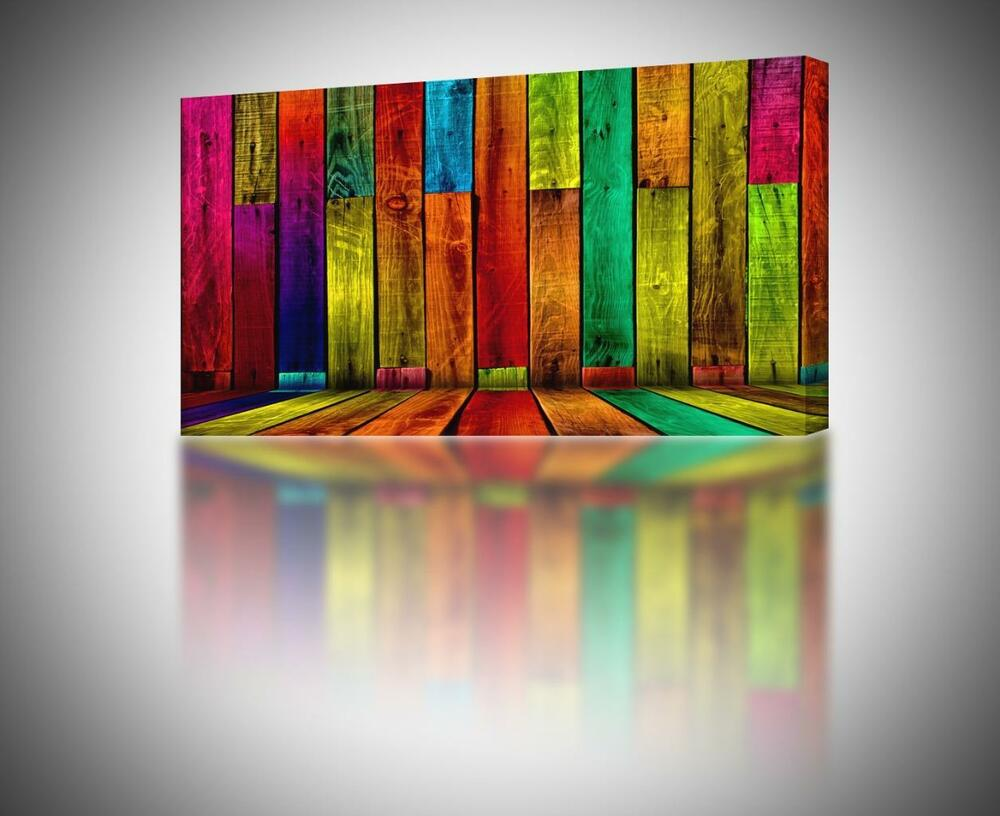 Colorful Abstract Boards CANVAS PRINT Home Wall
