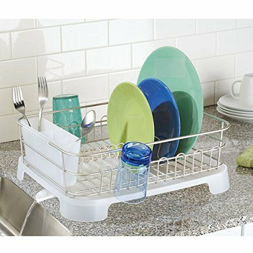 Dish Drainer Drying Rack Stainless Steel Dishes Kitchen Organizer Swivel Spout 691038683954 EBay