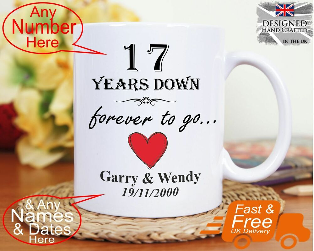 17th Wedding Anniversary Gift 17 Years Marriage, Any Dates