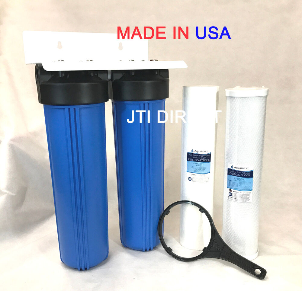 AquaMaxx 2 Stage 20 Big Whole HouseMobile Car Wash Water Filter Set System EBay