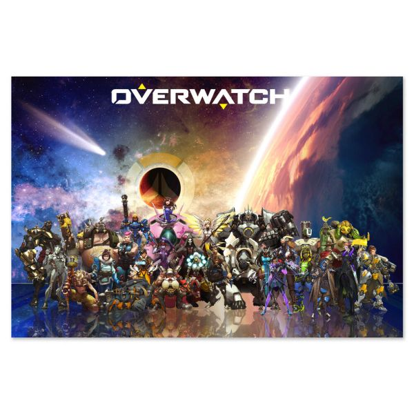 Overwatch Poster - NEW* Exclusive Design All Heroes - High ...