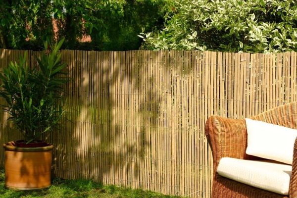 bamboo privacy garden Bamboo Slat Fencing Screening Rolls for Garden Outdoor