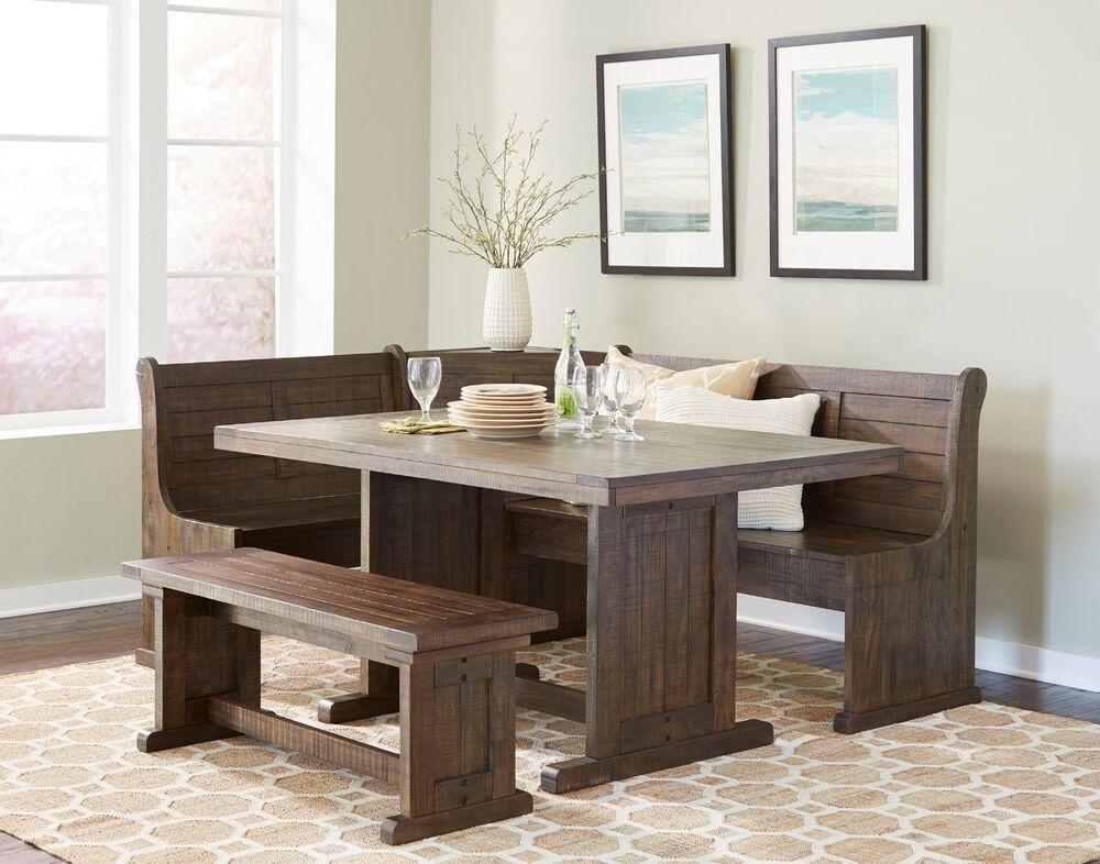 Sunny Design Homestead Breakfast Nook With Side Bench