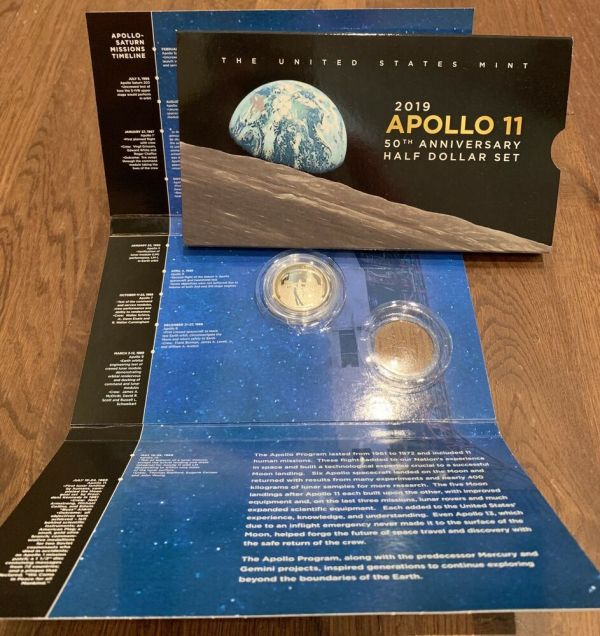 2019 S Apollo 11 Proof Clad Half Dollar W 50th Anniversary ...