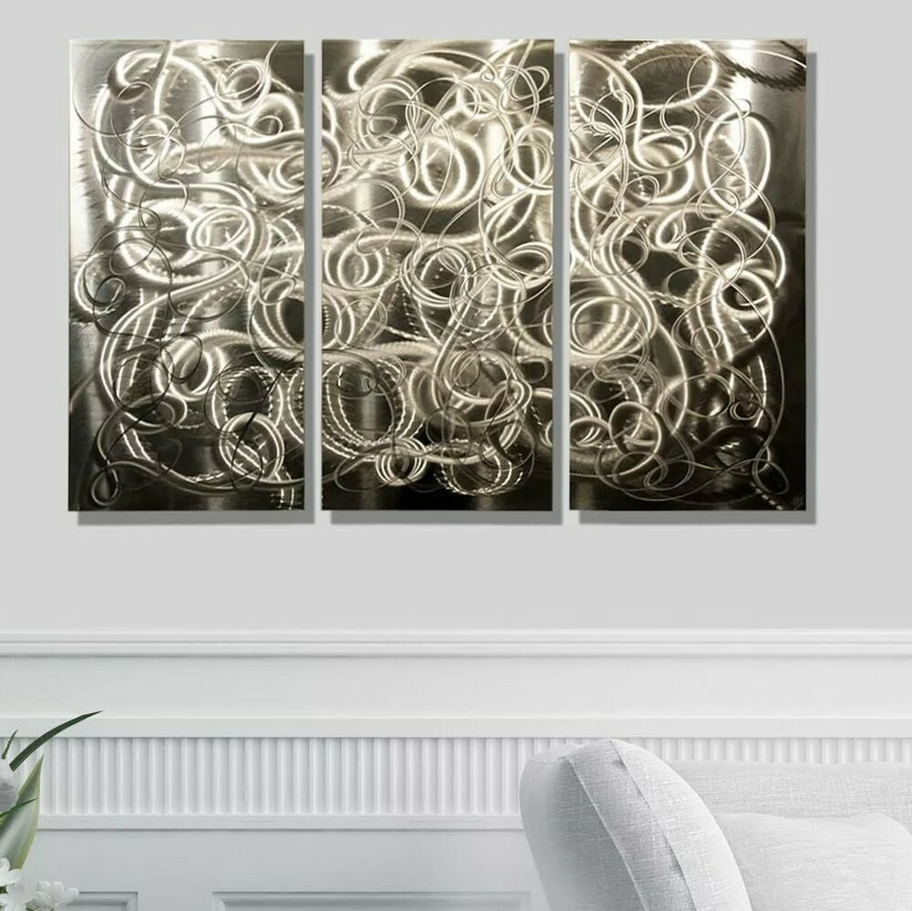 Metal Modern Abstract Wall Art Painting Sculpture Home