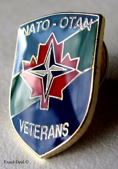 Canada Army Canadian Forces NATO - OTAN War Veterans Lapel ...