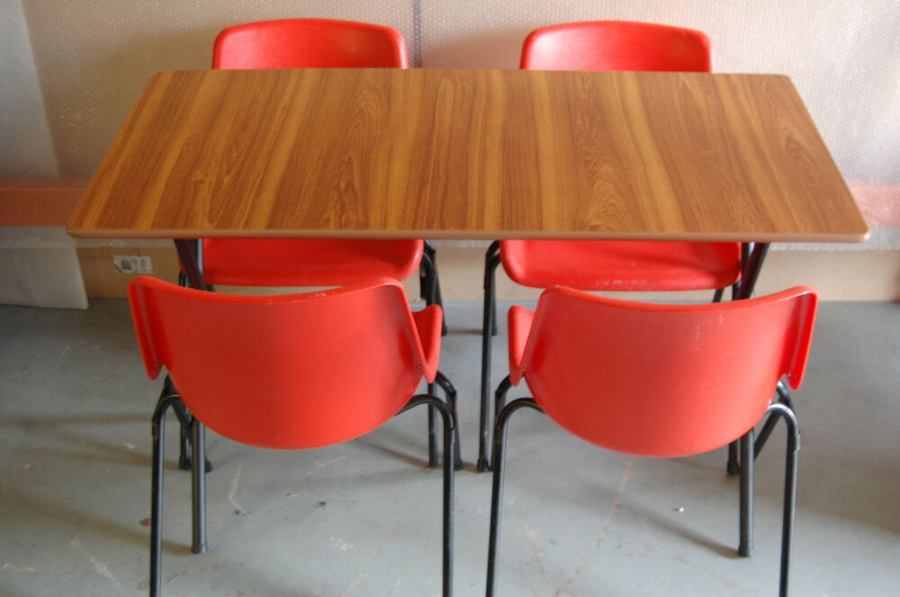 Folding Table Stacking Chairs Cafe Bistro Dining Canteen