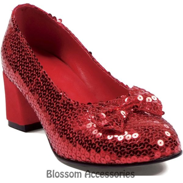 S26 Judy Dorothy Wizard of OZ Sequin Red Ruby Women Ladies ...