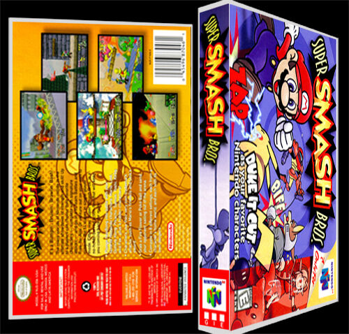 Super Smash Bros N64 Reproduction Art CaseBox No Game