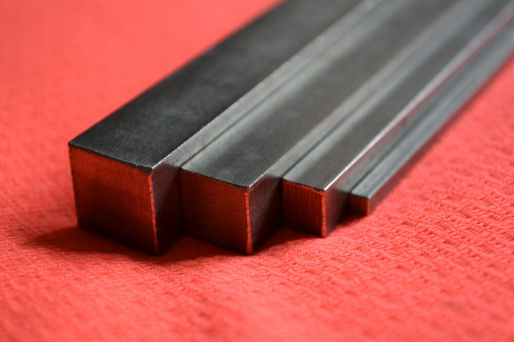 BRIGHT MILD STEEL SQUARE BAR 2MM 3MM 4MM 5MM 6MM 7MM 8MM