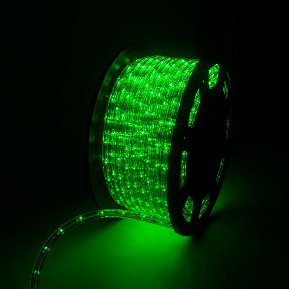 150 LED Green Rope Light 2 Wire Outdoor Home Party