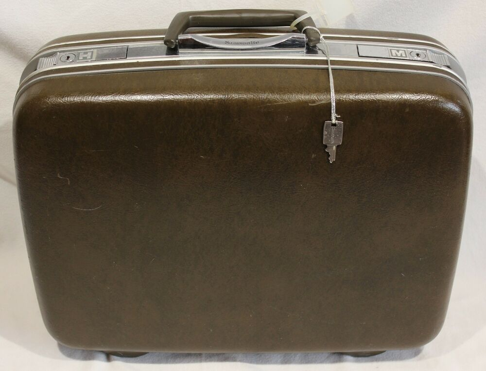 Vintage Samsonite Silhouette Suitcase Luggage Denver Hard Side Brown 17 Key H M EBay