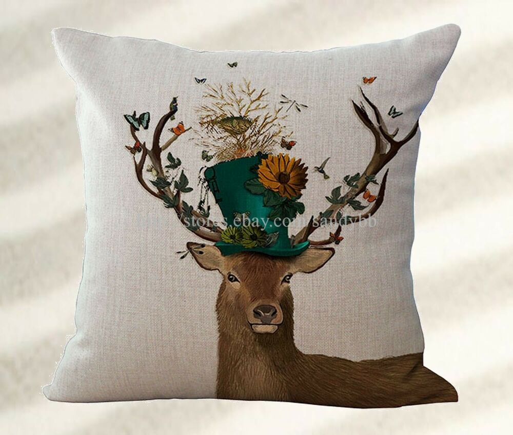 Deer Cushion Cover Replacement Outdoor Cushion Throw Covers EBay