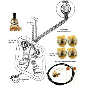 Epiphone Les Paul Wiring Kit with Diagram | eBay
