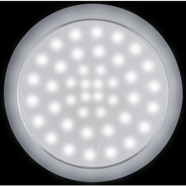 LED Round Interior Exterior White Light Touch On Off 1224