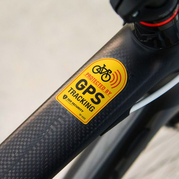 2x ANTI THEFT STICKER - Bicycle GPS Tracking, Sound Chain ...