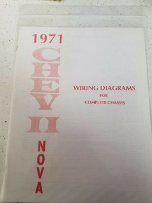 New 1971 Chevy Nova Wiring Diagram Manual ****FREE SHIPPING**** | eBay