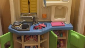 Little Tikes Kitchen Set Along With Some Kitchen Food And