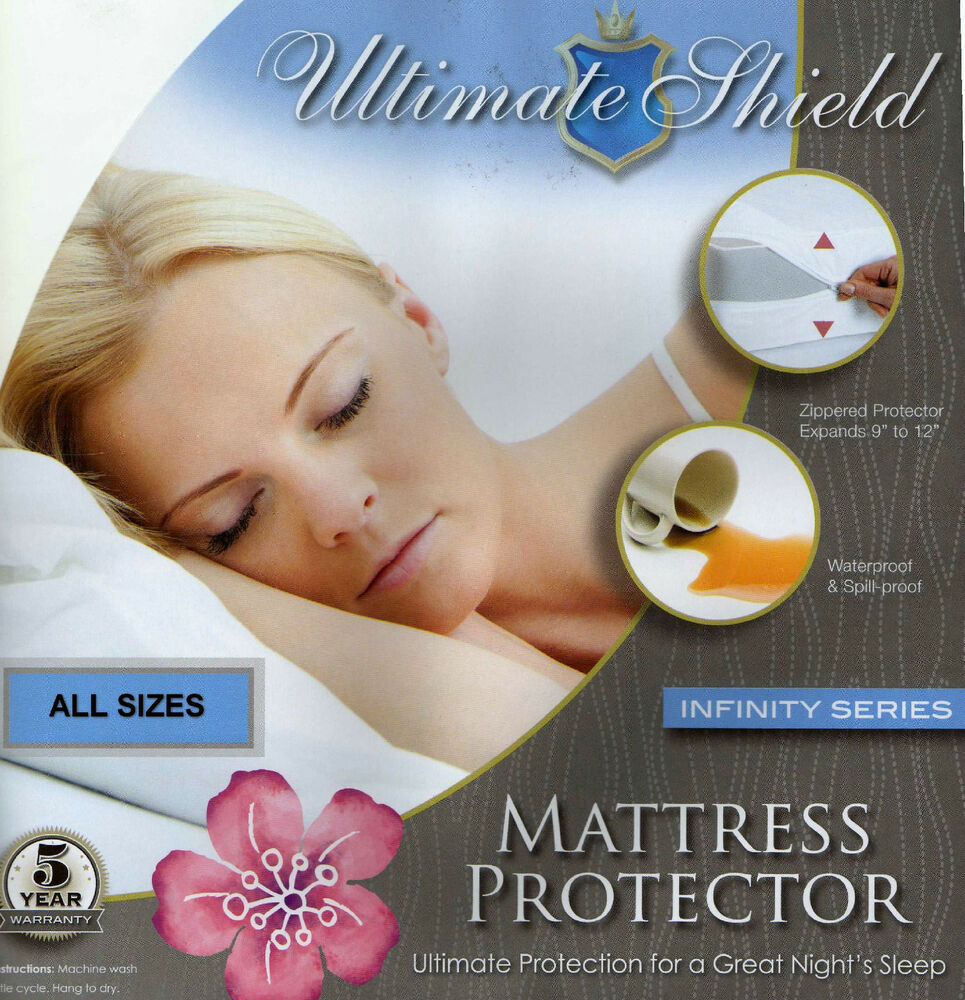 Hypoallergenic MattressBox Spring CoverProtector Cotton