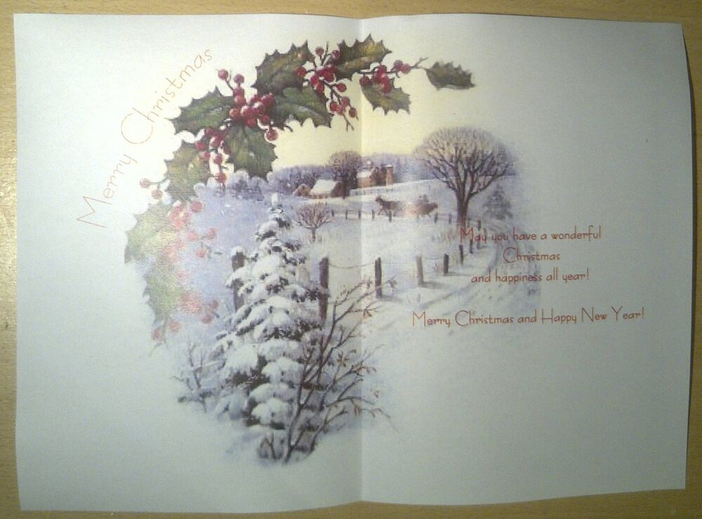 V8 Christmas Card Inserts Pack Of 10 EBay