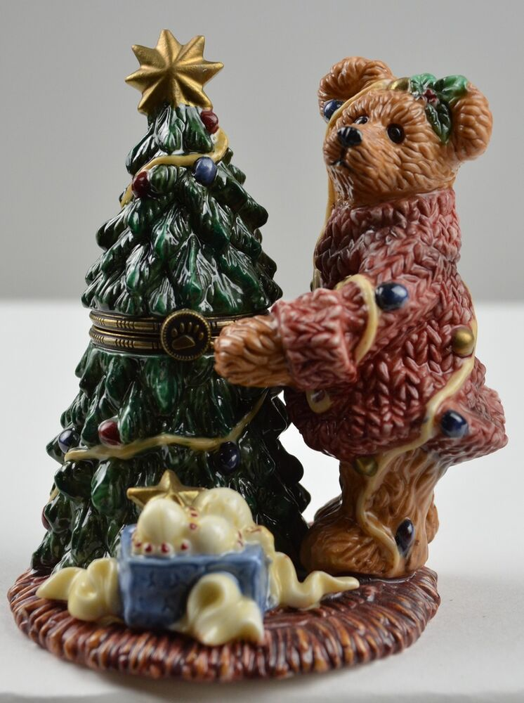 Boyds Bears Elliot Amp The Tree Porcelain Keepsake Box
