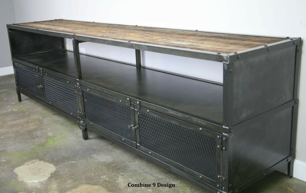 Media Console/TV Stand. Vintage Industrial. Reclaimed Wood