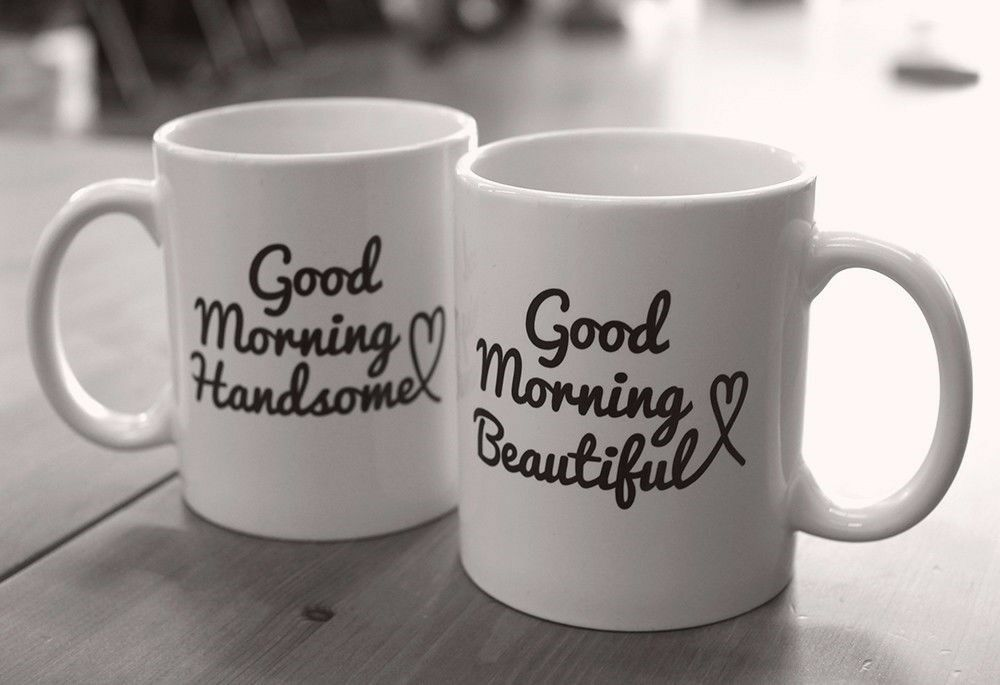 His And Hers Mugs Good Morning Beautiful And Handsome