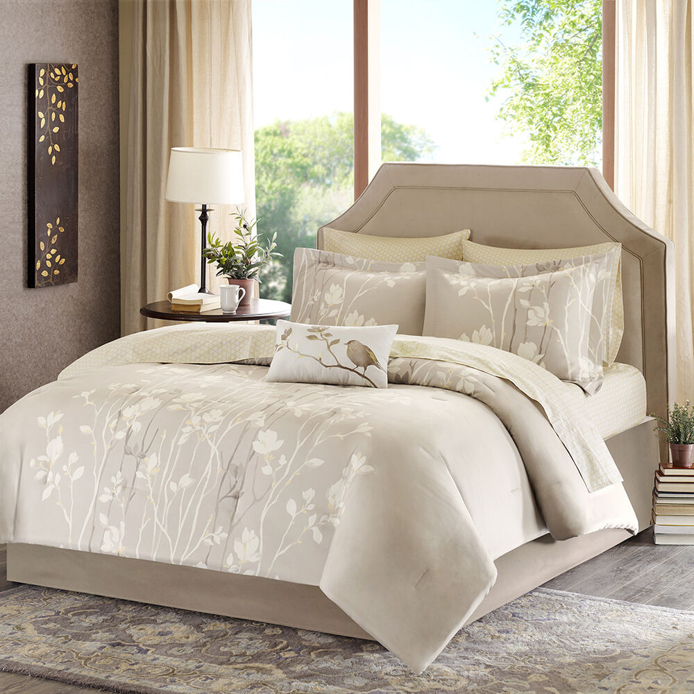 Beautiful Elegant Ivory White Taupe Gold Beige Bed In Bag