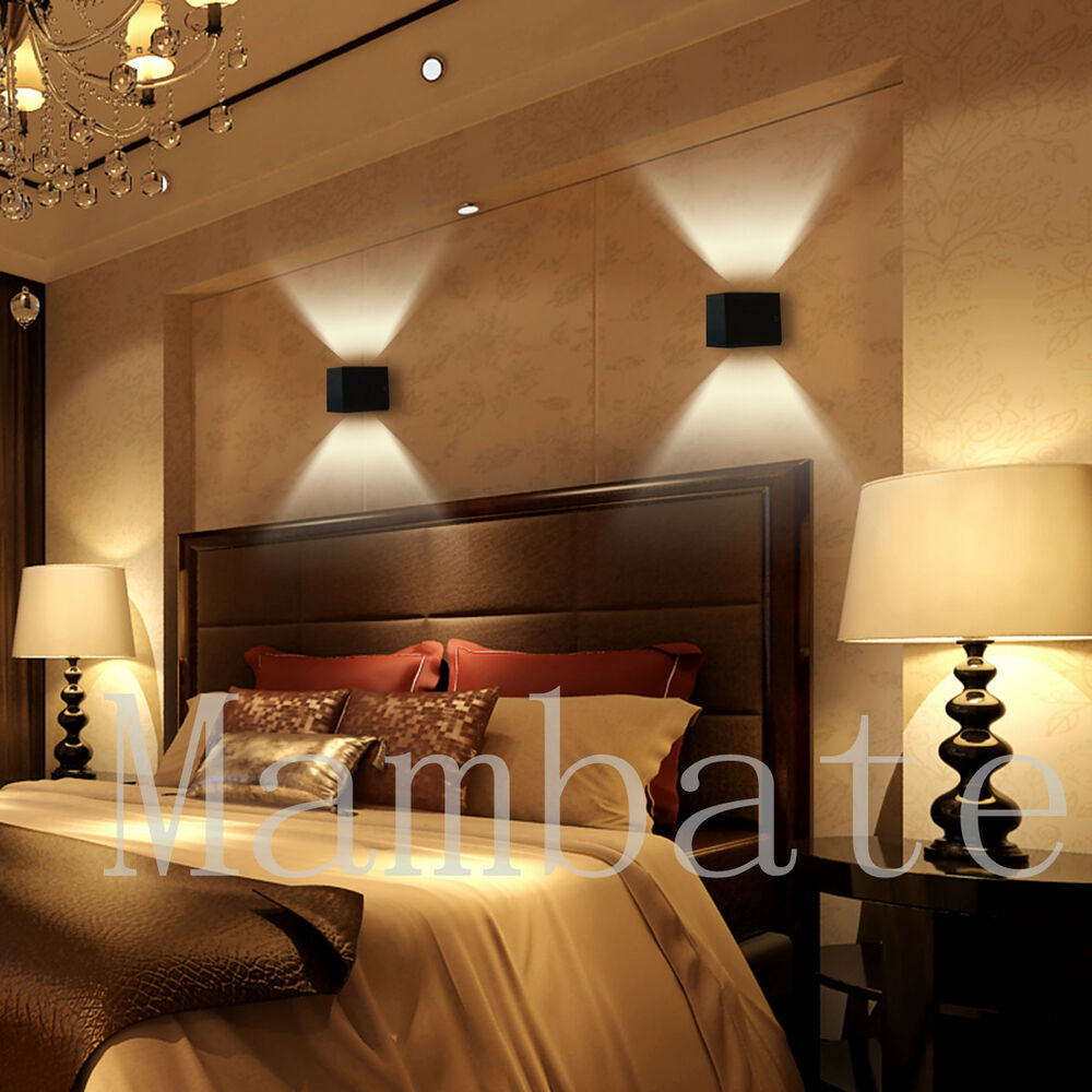 3W LED Square Wall Lamp Hall Porch Walkway Bedroom ... on Wall Lighting For Living Room id=64835