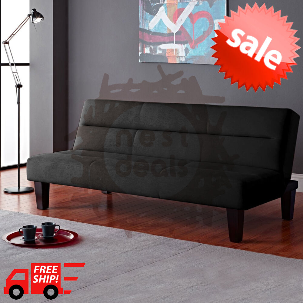 Modern Futon Sofa Bed Convertible Couch Living Room Loveseat Dorm Sleeper Lounge EBay